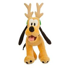 DISNEY PARKS AUTHENTIC HOLIDAY PLUSH PLUTO REINDEER VERY SOFT FREESTANDING NWT