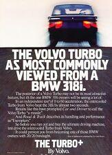 1984 1985 Volvo Turbo - Original Advertisement Print Art Car Ad J627
