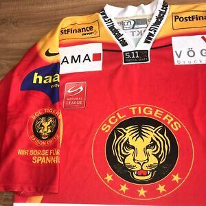 SCL Tigers Langnau Switzerland 2009/2010 rare team signed Hockey jersey size XL