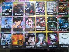 neoN genesis evangelion vending carddass pp cards trading cards lot lote de 18 c