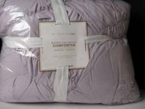 Pottery Barn Whimsical Waves Recy Microfiber Comforter, Twin XL,Dusty Iris, NWT.