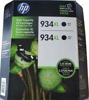 HP 934XL Black Original TWO Ink Cartridge High Capacity (Exp : OCT 2017)
