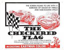 THE CHECKERED FLAG Movie POSTER 22x28 Half Sheet Joe Morrison Evelyn King