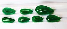 46.74 Ct / 7 Pcs Fine Natural Emerald Pear Zambia UnTreated Loose GemStone