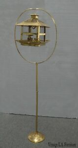 Vintage Rustic Gold Bird Cage on Floor Stand