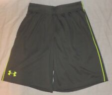 NEW boys UNDER AMOUR Heat Gear gray shorts Size youth small