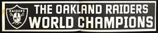 Oakland Raiders Rare Original 1976 World Champions Bumper Sticker Vtg Nfl Sb Xi