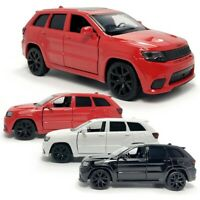 1:36 Jeep Grand Cherokee Trackhawk SUV Car Model Diecast Toy Vehicle Gift Kids
