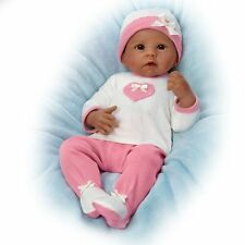 Ashton Drake Jayla So Truly Real African-American Baby Doll Breathes - Heartbeat