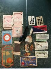 Lot of ANTIQUE SEWING MATERIALS, Needle Cases, Buttons, Sock Darners, Threaders
