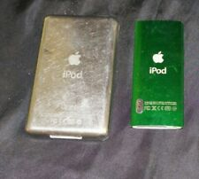 Lot of 2 Apple iPods - Unknown Models / Untested / No Cords Silver & Green