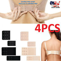4 pcs Adjustable Bra Buckle Extender Bra Extension Underwear Strap 2/3 Hooks