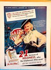 1950s Chesterfield Cigarette Lucille Norman VINTAGE PRINT MAGAZINE AD