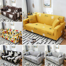 1 2 3 4 Seater Slipcovers Stretch Elastic Sofa Covers Long Couch Cover Protector