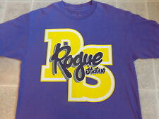 used ROGUE STATUS big yellow logo T-SHIRT LG purple large RS letters neff dgk