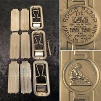 Lot of 3 Vintage/Antique ROLLS RAZOR Imperial Chrome Shavers Razors & Strops