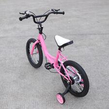 16 Zoll Kinderfahrrad Mädchen Kinderfahrräder mit Stützrädern Kinderrad Rosa NEU