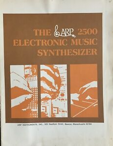 ARP 2500 Synthesizer Sales Brochure RARE Roger Powell Pete Townshend The Who