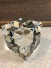 Cut Glass Multi-Faceted Decorative Art Paperweight