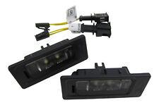Original VW Audi LED Kennzeichenbeleuchtung + Anschluss Adapter Kabel SET #3AF