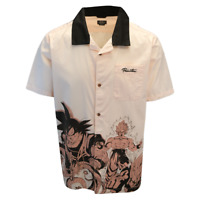 Primitive x Dragon Ball Z Men's Pink S/S Woven Shirt (Retail $64.95)