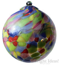 D & J Glassware - CONNOISSEUR FRIENDSHIP GLASS BALL GLOBE - Red Blue Multi