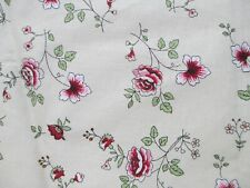 "Fabric by Benartex ""Linen Roses"" for masks; odd shaped piece 18"" x 52"" $3.75"