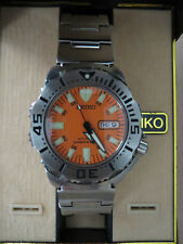 Seiko skx781 orange monster-with box tag and booklets