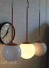 """1 of 3 """"SARA M"""" Kugel Opal Pendellampe Designlampe Bauhaus Pendant Loft Messing"""