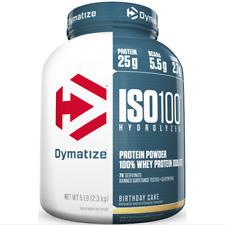 Dymatize ISO 100 Hydrolyzed 100% Whey Protein Isolate Powder, Birthday Cake, 25g