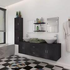 Set Mobiliario de Baño con Lavabo con Diferentes Unidades de Colores Beige/Negro