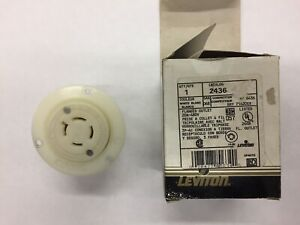 Leviton 2436 Flanged Outlet/Receptacle L16-20 NEW HBL2436