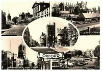 Greetings from Oxford England UK RPPC Postcard