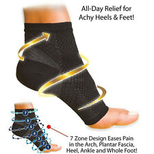 Black Ankle Foot Elastic Compression Anti Fatigue Circulation Swelling Relief Be