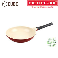 [ NEOFLAM ] ECOLON Coating Cube 24cm Fry Pan Deep Red Non-stick Natural Coating