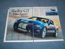 """2014 Shelby GT Mustang Info Article """"Shelby GT Flies Again!"""""""