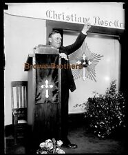 1909 Mystic Occult Rosicrucian Order Max Heindel Speaks Glass Camera Negative #2