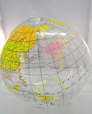 Wasserball Strandball im Weltkugel Design Neu und aufblasbar
