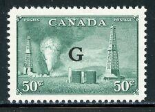 "Canada Mnh Back of Book: Scott #O24 50c Dull Green ""G"" Cv$9+"