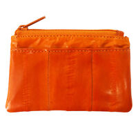 Genuine Eel Skin Coin Card Zippered Wallet Purse Mini Purse Small Wallet