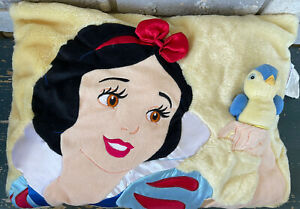 DISNEY STORE SNOW WHITE PILLOW With Blue Bird In Pocket