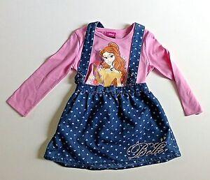 Girl's Disney Princess 2 Piece Skirt & Top Set- Blue & Pink - Age 18-24 mos NEW