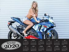 2020 SPORTBIKE HOTTIES WALL CALENDAR Street Bike Motorcycle GXSR ZX-10 CBR 1000