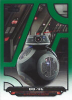 2018 Topps Star Wars Galactic Files Green Parallel TLJ-18 BB-9E 065/199