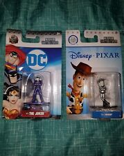 2 NANO Metalfigs,DC Comics DC18 The Joker RARE &DS15 DISNEY BARE METAL WOODY,HTF