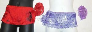 """Fringe Skirt Elasticized Waist 8 Colors offered GIrls Sz  6"""" w/rosette hdpc"""