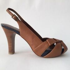 High (3 in. to 4.5 in.) Leather Bow Heels for Women