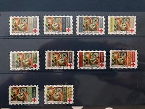 """série complète de 2020 - Croix Rouge """"rythme"""" n°1863 à 1872 France Timbre"""
