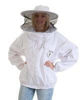 Weiße Imkerjacke und Mit Rundem Hut -  Größe 3XL