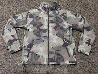 Hi-Tec Jacket Size L Womens Camo Full Zip Soft Shell Fleece Athletic Waterproof